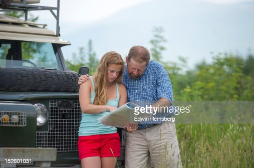 Couple choosing a route : Stock Photo