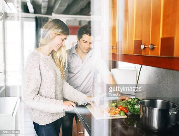 Couple de cuisine
