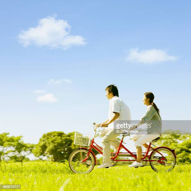 Couple Cycling Tandem Bicycle