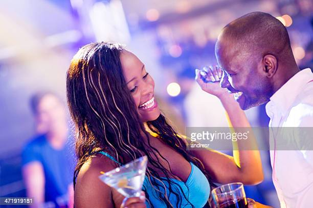 Couple dancing at a nightclub