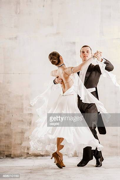 Couple dancing, ballroom dancing