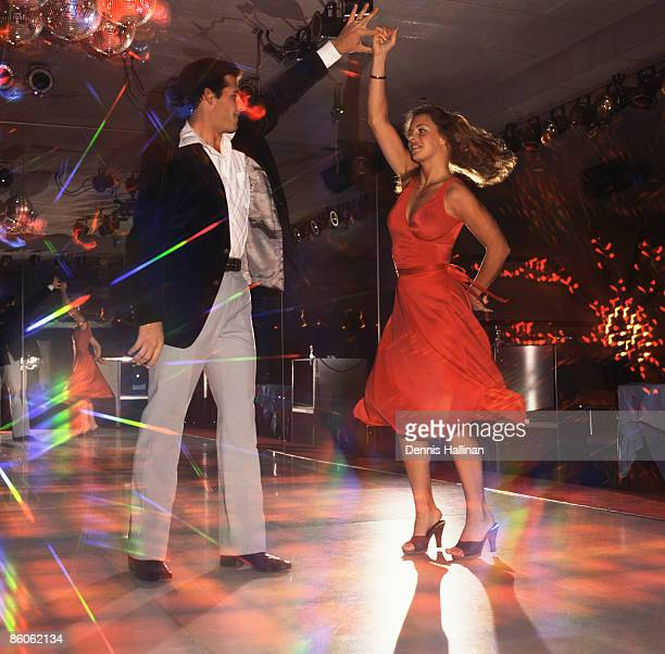 Couple dancing in disco