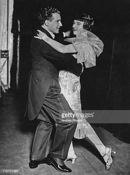 A couple dancing the black bottom which has overtaken the Charleston as the most fashionable social dance 1919