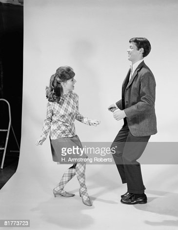 Couple dancing the Twist. : Stock Photo