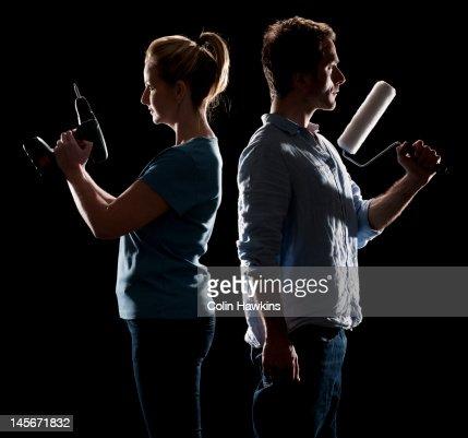 Couple DIY duel
