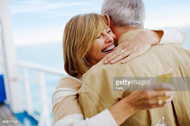 Couple Drinking Champagne on Cruise Ship