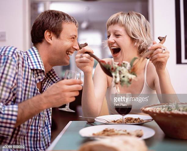 Couple Eating a Meal