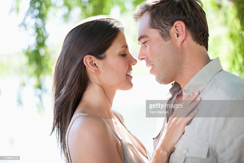 Couple embracing : Stock Photo