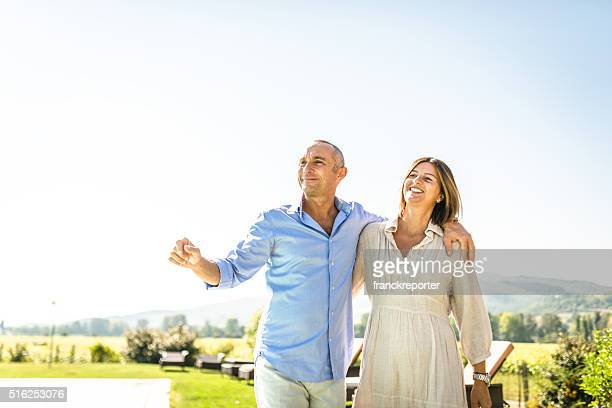 couple enjoy the summer together