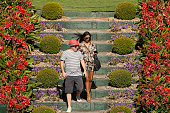 melbourne australia couple enjoy sunshine during