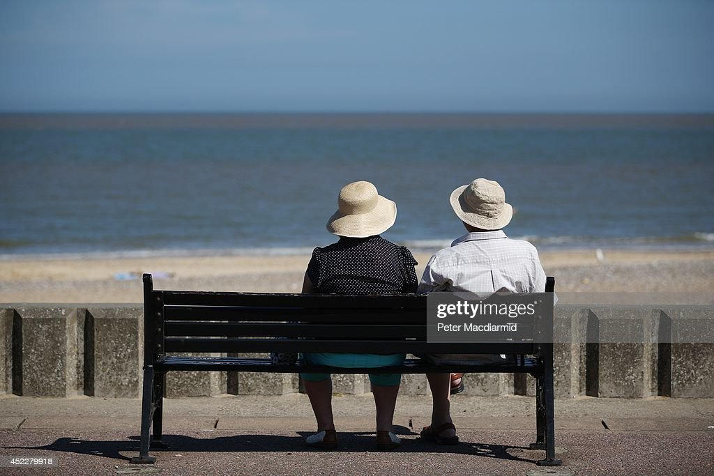 A couple enjoy the sunshine on the South Beach on July 17 2014 in Lowestoft England The Met Office has issued a heatwave alert as temperatures...