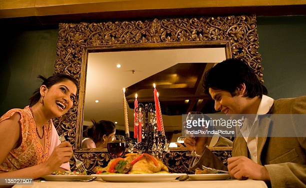 Couple enjoying a meal