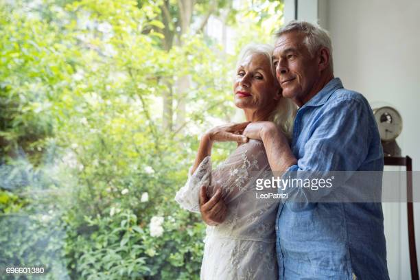 Couple enjoying daily life and retirement. Seniors at Home