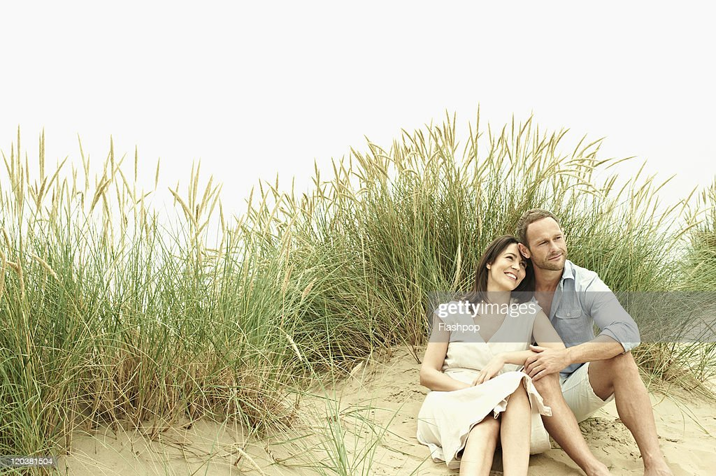 Couple enjoying day out at the beach