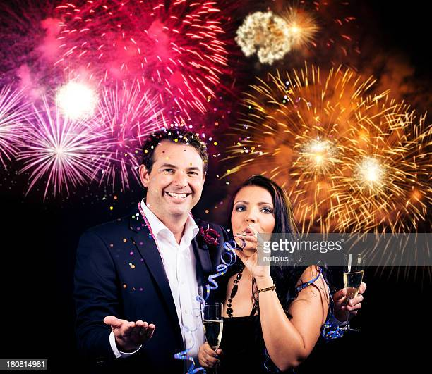 couple enjoying new year's eve
