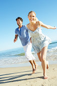 Couple Enjoying Romantic Beach Holiday