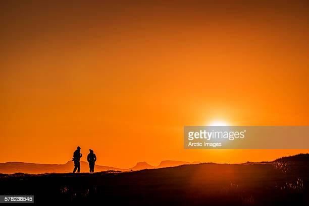 Couple enjoying the sunset, Iceland