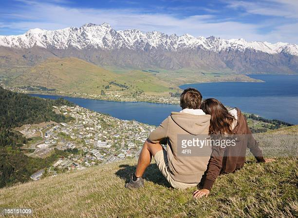 Couple Enjoying the View, Queenstown, New Zealand (XXXL)
