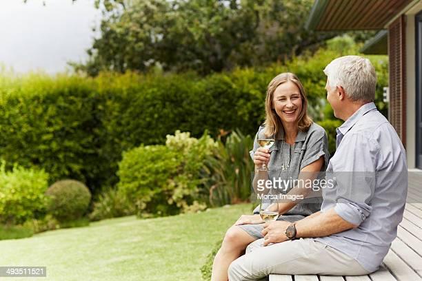 Couple enjoying wine
