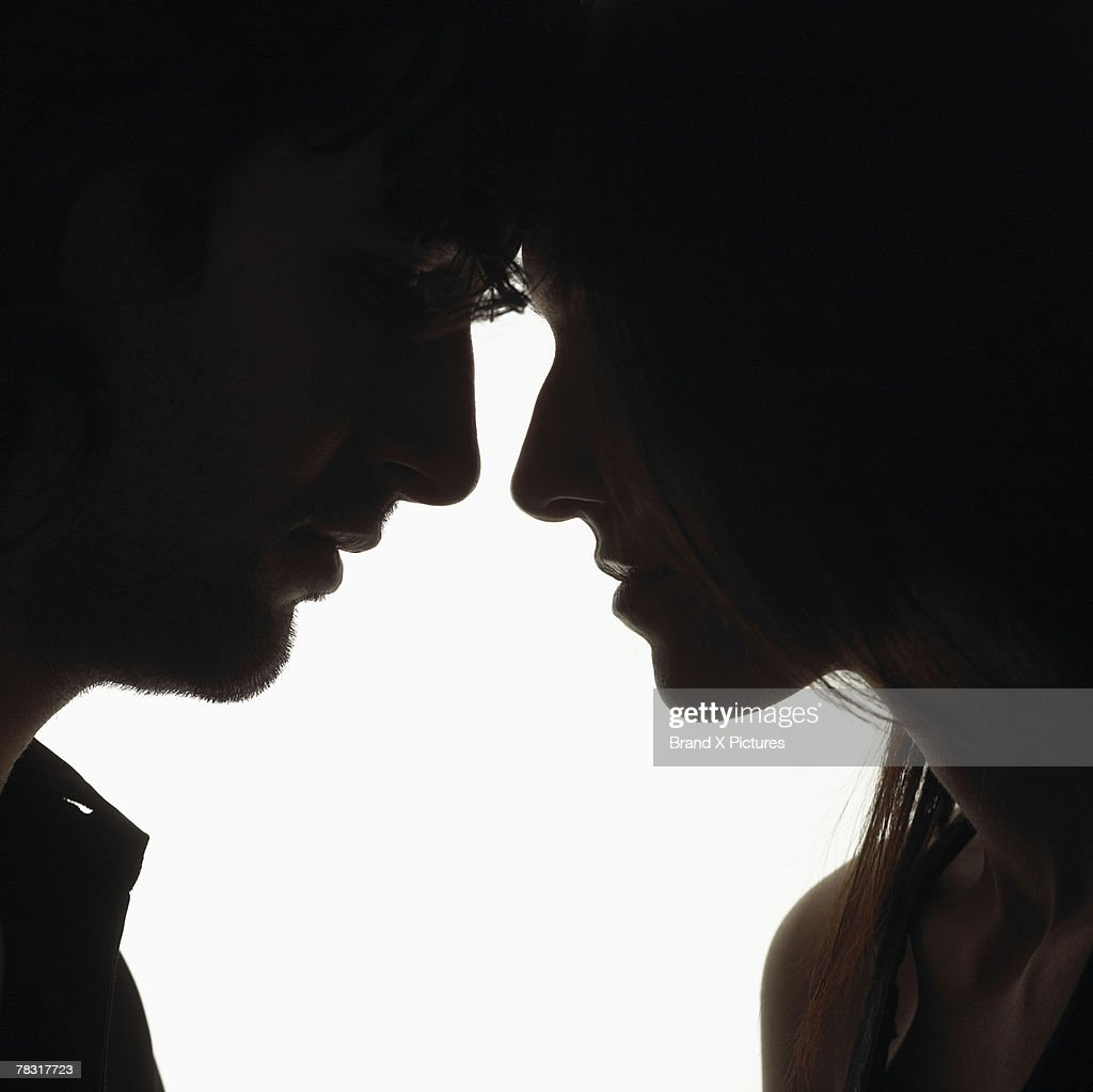 Couple face to face : Stock Photo