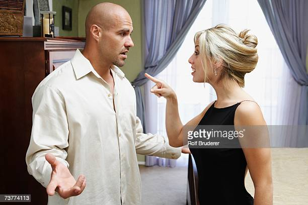 Couple fighting in livingroom