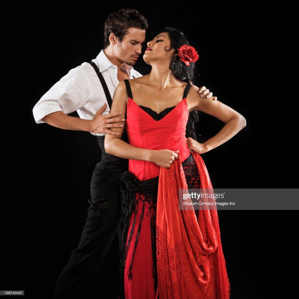 Couple flamenco dancing : Stock Photo