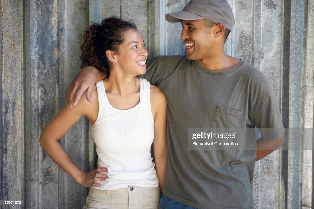 Couple gazing affectionately at each other