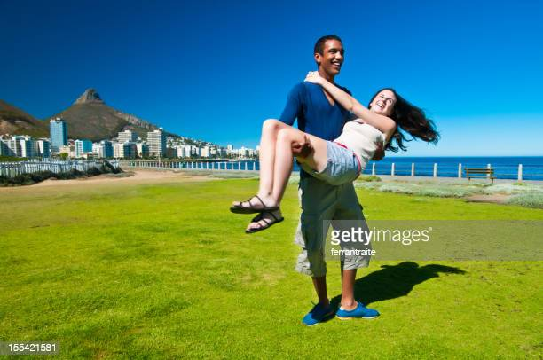 Couple hanging out in Cape Town