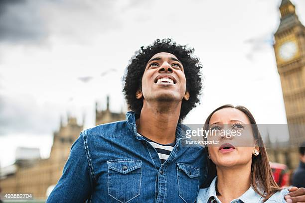 Couple happiness togetherness in London
