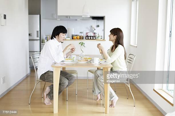 Couple Having a Breakfast