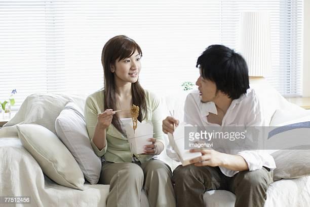 Couple Having a Lunch Break