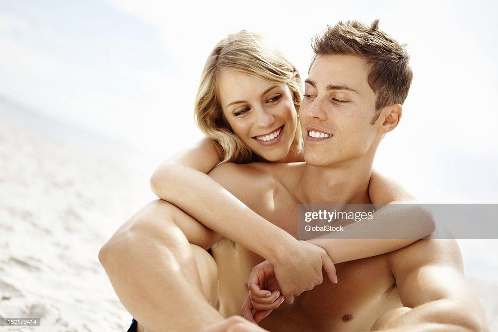 Couple having a romantic time : Stock Photo