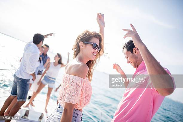 Couple having fun at a summer party