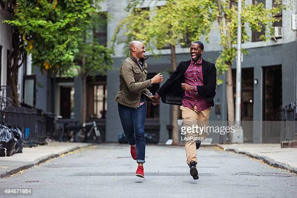 Couple having fun in Greenwich Village - NY