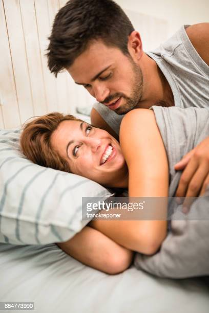 couple having fun in the bedroom