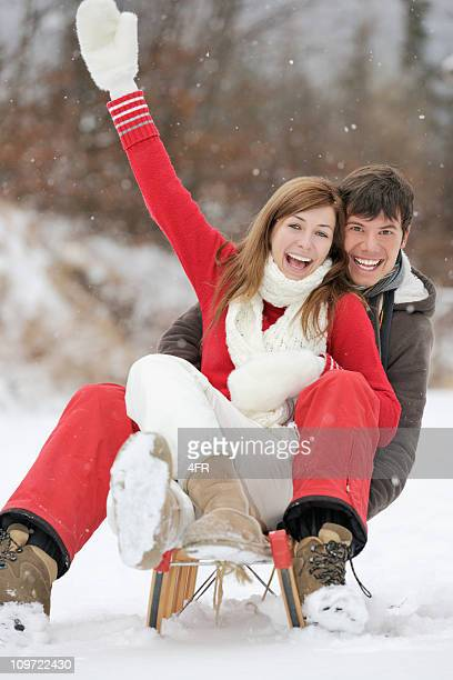 Couple having Fun on a Sled (XXXL)