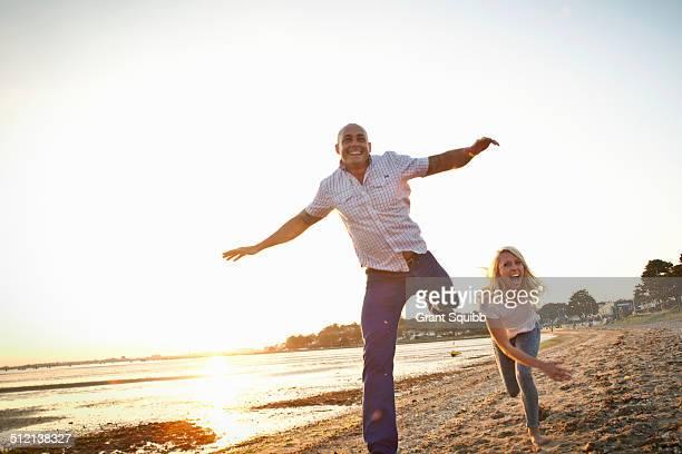 Couple having fun on beach