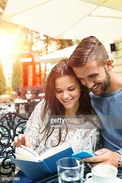 Couple having good time