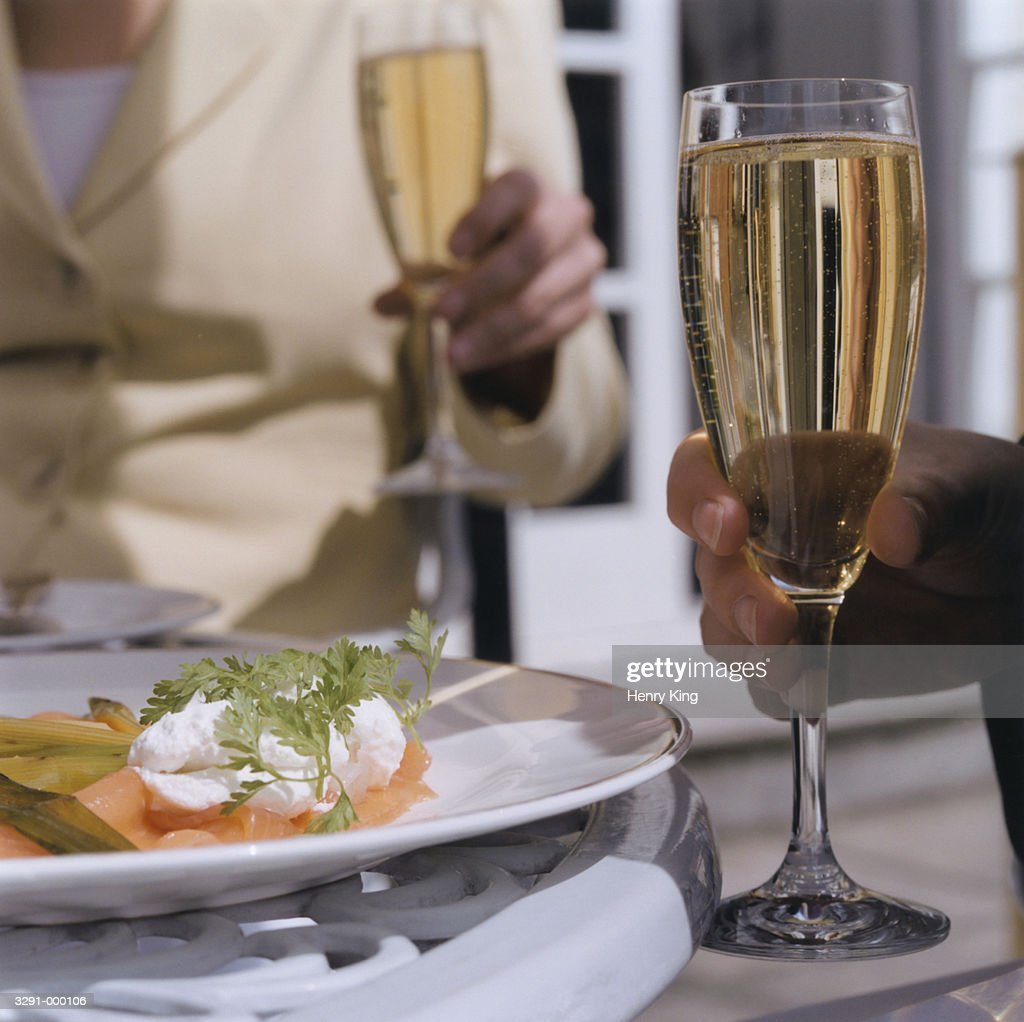 Couple Having Lunch : Stock Photo