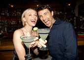 Couple having Margaritas in bar