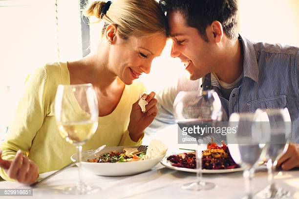 Couple having romantic dinner.