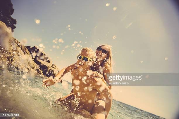 Couple Having Summer Fun at beach