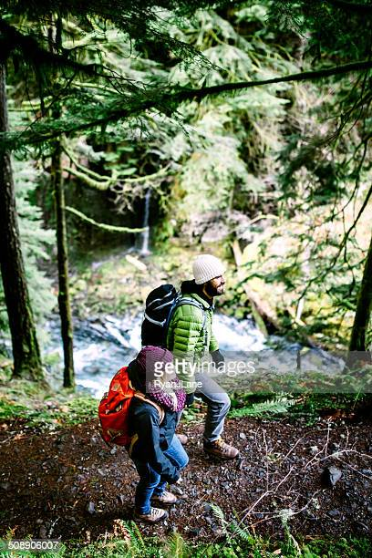 Couple Hiking in Forest Gorge