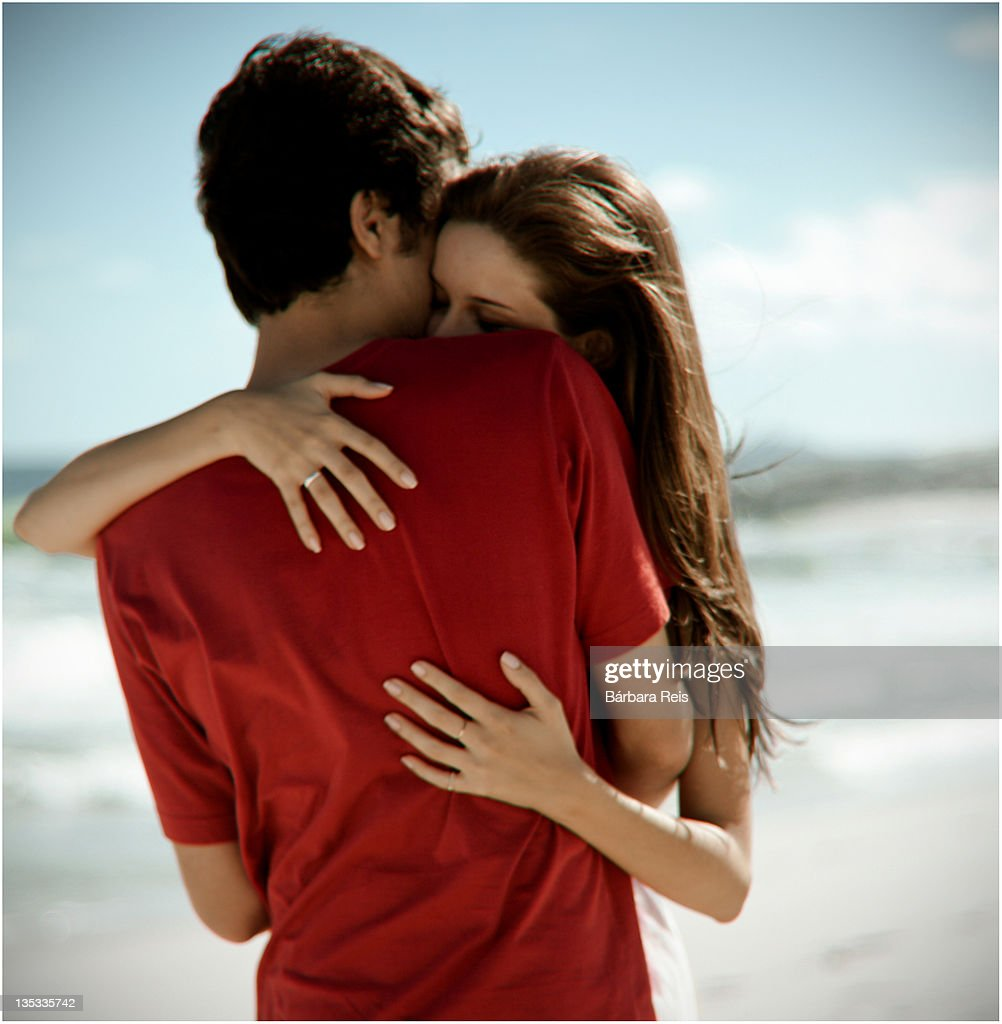 Couple hugging each other : Stock Photo