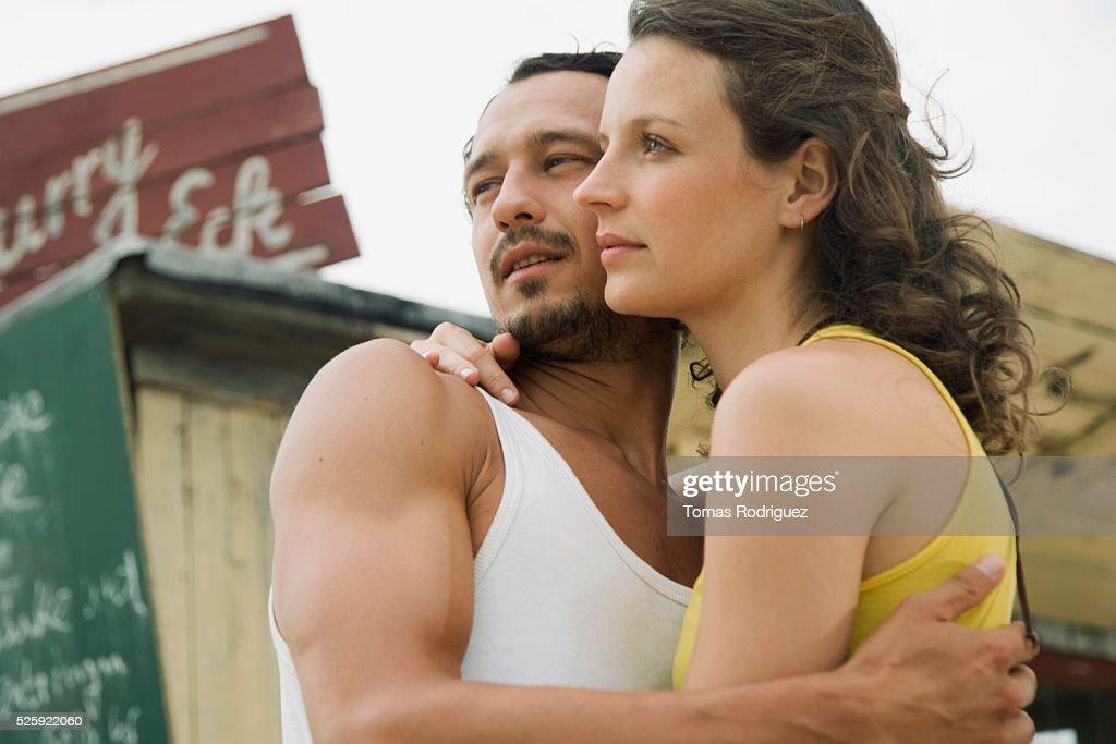 Couple Hugging : Foto de stock