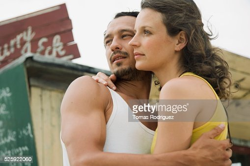 Couple Hugging : Stock Photo