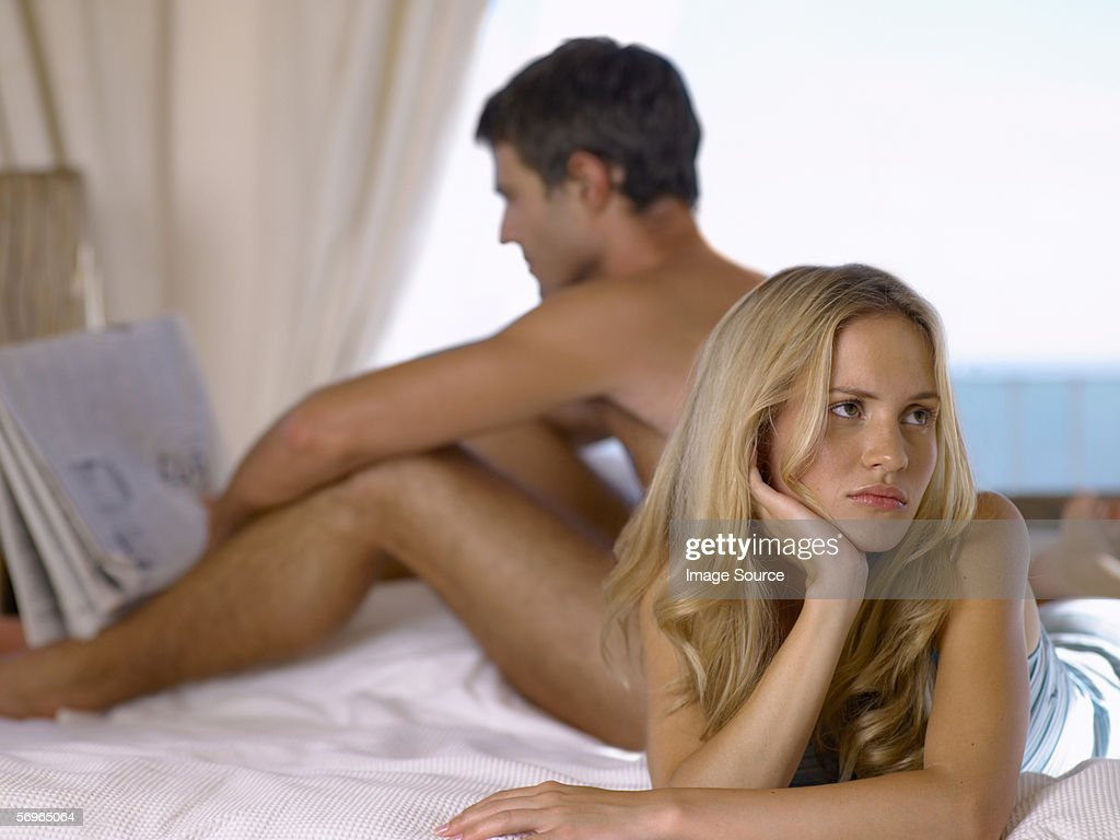 Couple ignoring each other : Stock Photo