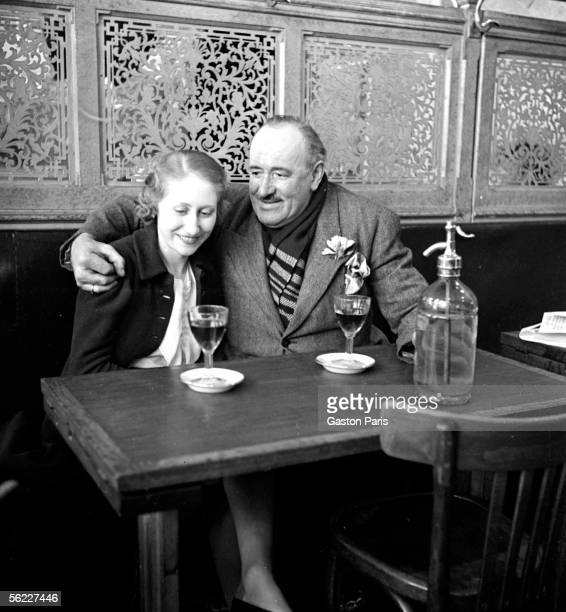 Couple in a cafe France about 1930