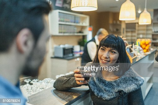 Couple in a coffee shop