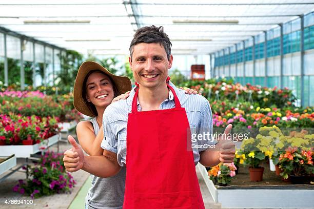 Couple in a Garden Center Store
